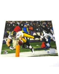 Pittsburgh Steelers #83 Heath Miller 'Stretching Out for 6!' Autographed 8x10 Photo