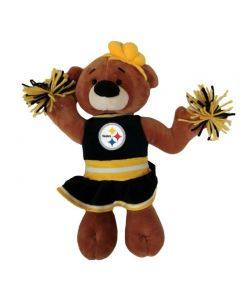 Pittsburgh Steelers Pom Pom Cheerleader Bear Doll