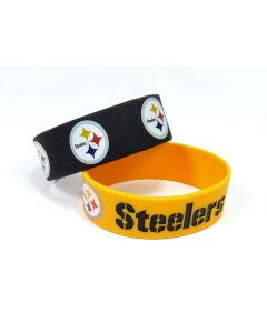 Pittsburgh Steelers Wide Bracelets - 2 pack
