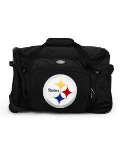 """Pittsburgh Steelers 21"""" Wheeled Duffle Bag"""
