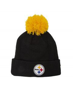 Pittsburgh Steelers New Era 4th Down Logo Pom Knit Hat