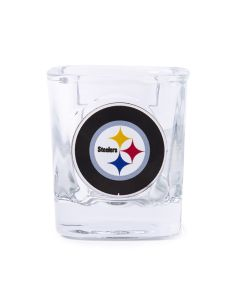 Pittsburgh Steelers Square Shot Glass w/ Metallic Applique