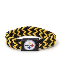 Pittsburgh Steelers Black & Gold Braided Wristband