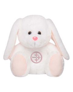 Pittsburgh Steelers Soft White Fur Plush Bunny