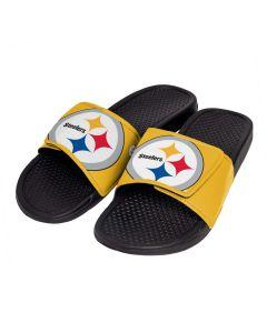 Pittsburgh Steelers Men's Big Logo Cropped Slides