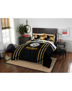 Pittsburgh Steelers Full/Queen Plush Cloud Comforter & Sham Set