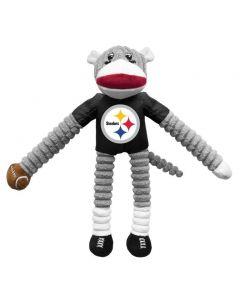 Pittsburgh Steelers Sock Monkey Pet Toy