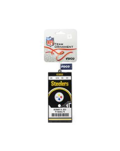 Pittsburgh Steelers Metal Ticket Ornament