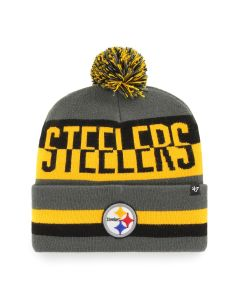 Pittsburgh Steelers '47 Split Text Charcoal Knit Hat
