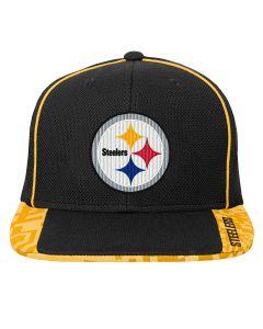Pittsburgh Steelers Youth Fan Tech Flat Visor Snapback Hat