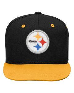 Pittsburgh Steelers Youth Two Tone Flat Visor Snapback Hat