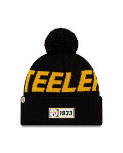 Pittsburgh Steelers Youth New Era 2019 Sideline Sport Road Knit Hat