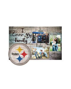 """Pittsburgh Steelers """"I Love My Family"""" 11x19 Clip Photo Frame"""