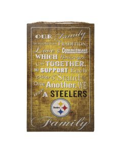 "Pittsburgh Steelers ""Our Family"" Wood Sign"