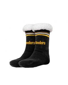 Pittsburgh Steelers Stripe Logo Tall Footy Slipper Socks