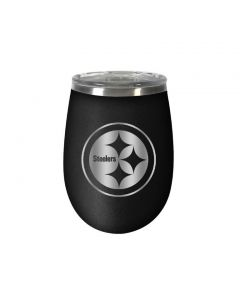 Pittsburgh Steelers Stemless 10 oz. Stealth Wine Tumbler