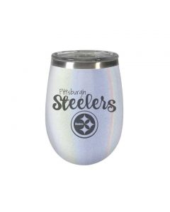 Pittsburgh Steelers Stemless 10 oz. Blush Opal Wine Tumbler