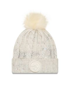 Pittsburgh Steelers New Era Women's Fuzzy Pom Knit Hat