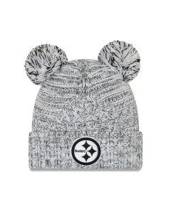 Pittsburgh Steelers New Era Girls' Duel Pom Knit Hat