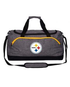Pittsburgh Steelers Heather Grey Duffle Bag