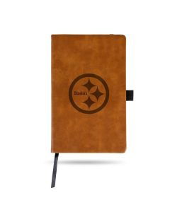 Pittsburgh Steelers Laser Engraved Brown Notepad