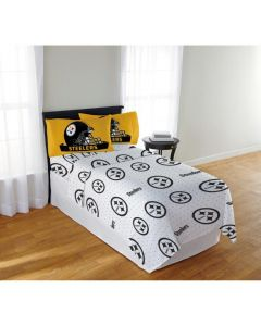 Pittsburgh Steelers Full Size Sheet Set with 2 Pillowcases
