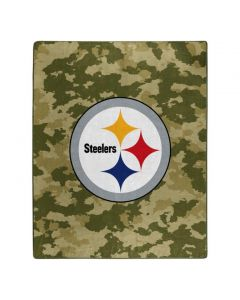 Pittsburgh Steelers 50x60 in. Olive Camo Raschel Blanket