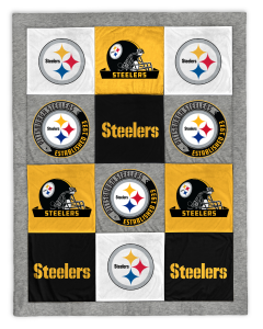 Pittsburgh Steelers 62x80 in. Patchwork Sweatshirt Blanket