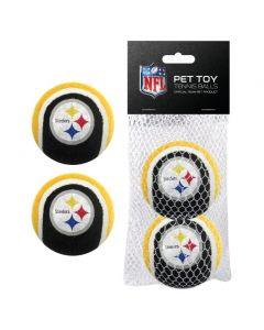 Pittsburgh Steelers Tennis Ball Pet Toy - 2 pack