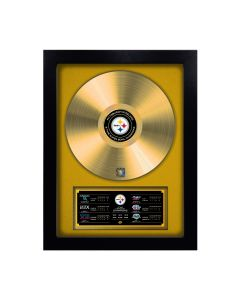 Pittsburgh Steelers Framed 6-Time Super Bowl Champions Gold Record