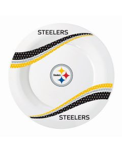 Pittsburgh Steelers Round Jersey Collection 10 inch Plates - 8 count
