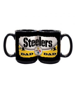 Pittsburgh Steelers Wordmark #1 Dad Mug