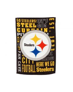 Pittsburgh Steelers Fan Rules Embossed Suede Garden Flag