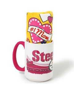 Pittsburgh Steelers #1 Mom Mug and Mother's Day Terrible Towel Combo