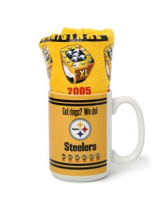 Pittsburgh Steelers 6-Time Super Bowl Champs Mug and Terrible Towel Combo