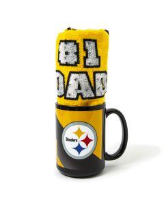 Pittsburgh Steelers #1 Dad 15 oz. Mug and Terrible Towel Combo
