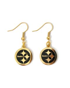Pittsburgh Steelers Color Rush Logo Earrings