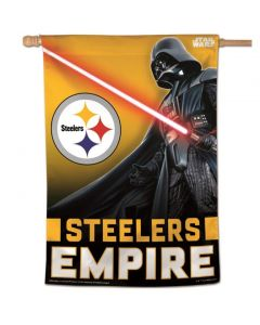 Pittsburgh Steelers Star Wars Empire 28x40 Vertical Flag