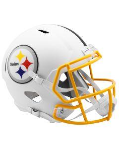 Pittsburgh Steelers Replica Flat White Speed Helmet