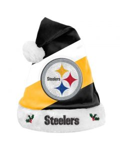 Pittsburgh Steelers Diagonal Stripe Santa Hat