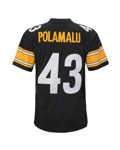 Troy Polamalu #43 Youth Mitchell & Ness Limited Home Jersey