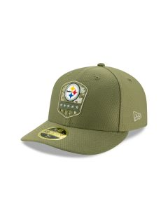 Pittsburgh Steelers New Era Low Profile 59FIFTY Sideline Salute to Service Hat