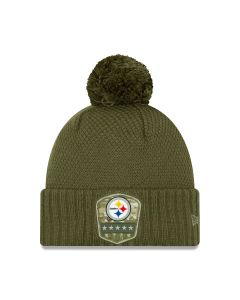 Pittsburgh Steelers New Era Women's Salute to Service Sideline Knit Hat