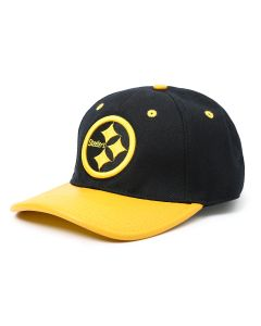 Pittsburgh Steelers Pro Standard Gold Logo Leather Visor Hat