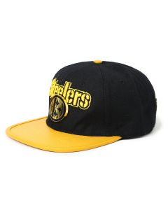 Pittsburgh Steelers Pro Standard Wordmark & Gold Logo Leather Visor Hat