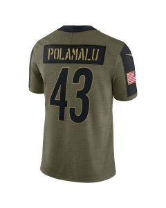 Troy Polamalu #43 Nike Men's Limited Salute to Service Jersey