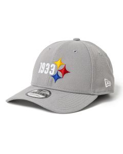 Pittsburgh Steelers Men's New Era 9FORTY 1933 Elements Grey Hat