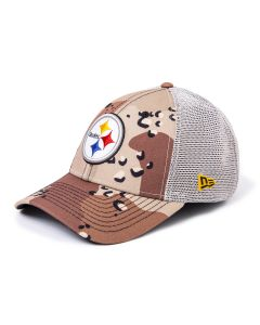 Pittsburgh Steelers New Era 9FORTY 6 Day Camo Trucker Mesh Hat