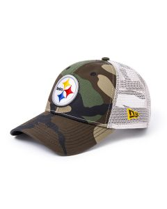 Pittsburgh Steelers New Era 9FORTY Woodland Camo Trucker Mesh Hat