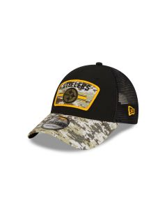 Pittsburgh Steelers New Era Salute to Service (STS) 2021 9FORTY Trucker Sideline Hat